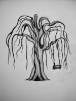 Weeping willow tree with swing by intoxicatingeyes