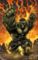 Hulk Smash Green by DontBornInInk