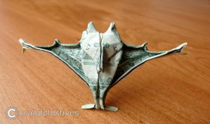 Dollar Origami Vampire Bat v3 by craigfoldsfives