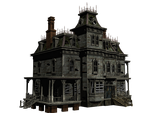 Haunted House 05 PNG Stock by Roys-Art
