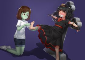 Princess Scary and her Pet Zombie by MrTenacious01