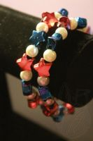 Red, White, and Blue Bracelet by theyarnbunny