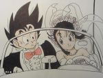 Son Goku and Chichi by ZefiMankai