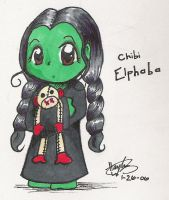 Chibi Elphaba by haylee-jalyn