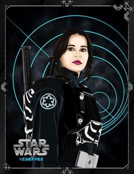 Jyn Erso - Rogue one by Cuervex