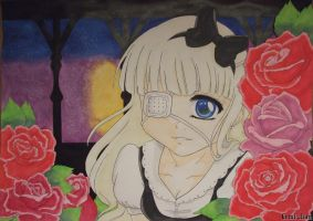 Among the roses - Art Trade by Gemi-chan