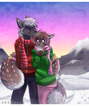Chilly stroll by Amathaze
