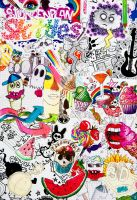 doodle collage by rainbow-art