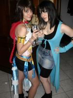 Rinoa and Yuna - Happy 2012 by UndiciSmaug