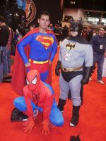 C2E2 2012 Saturday - Spidey, Supes, and Bats by soryukey