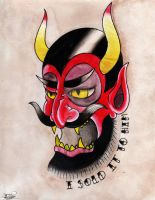 Traditional Satan face by ArtemDesigns