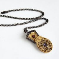 Steampunk Fusee Necklace by Gweyeni