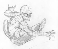 Spider-Man in Action by Pigbert