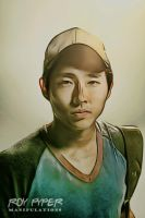 The Walking Dead: Glenn: Crayon Re-Edit by nerdboy69