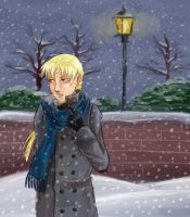 Link in the Snow by Quatrina