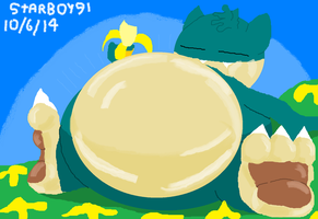 Munchlax Going Bananas by StarBoy91