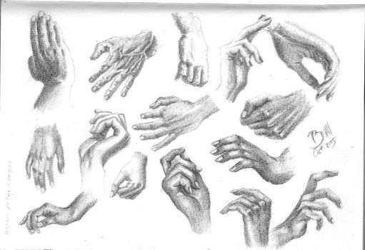 Hands Sketches - Bocetos Manos by BILLNEW