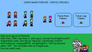.:Super Mario Forever Sprites Preview:. by TuffTony