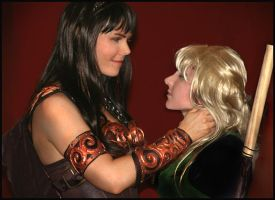 Xena and Gabrielle in love by GingerAnneLondon