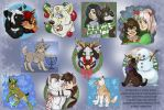 YCH Holiday Pups and Humans For Sale/ Trade by NatsumeWolf