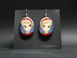 Girls on earrings - OOAK by 1anina