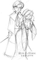 Ron and Herm - Dressrobes? by lberghol