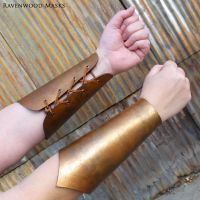 Leather bracers by Alyssa-Ravenwood