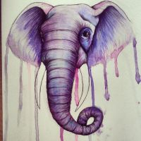 Purple Elephant by smonters