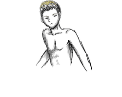 SHOGO - Upper male body sketch by Stream-Weave