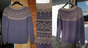 Purple Marius sweater - COMMISSION by KnitLizzy