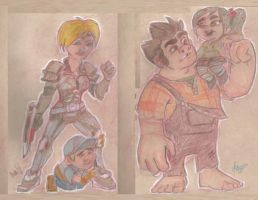 Wreck-It-Ralph CHIBIs for MoonyMina by Manda-of-the-6