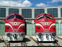 Two Nohab locos in Budapest by morpheus880223