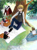 hetalia - by the river by lackofsleep