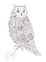Paisley owl by mcalick