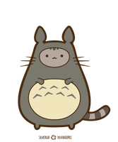 Commission: Pusheen in Disguise by Severka