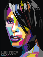 Whitney Houston Pop Art by ndop
