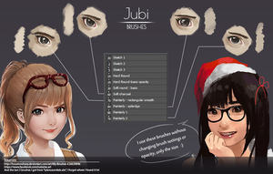Jubi Mixed Brushes by reijubv
