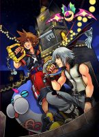 Kingdom Hearts 3D Cover by kelv93