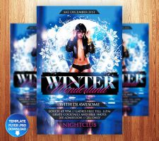 Winter Wonderland Flyer Template by Grandelelo