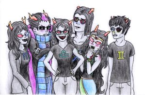 trolls w/ glasses by red-thorn
