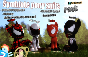 [DL/SFM/GMOD] Symbiote Ponies Pack v1.0 by Sindroom