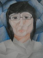 Me in cubism style by EmeraldLin8891