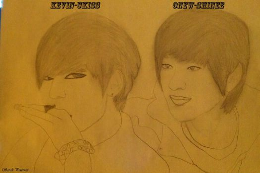 Onew And Kevin Drawing by SungminHiroto