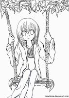 Swing - Lineart by MewFiona