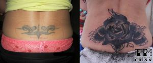 Black Rose cover up by grinderbird