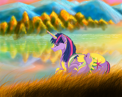An Evening with Twilight (Smaller version) by AprilSilverWolf