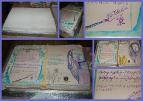 21st Book Cake by JanJL