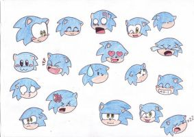 many emotions of Sonic by LeniProduction