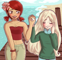 Indie Girl and Fairy Princess by xylyene