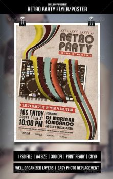 Retro Party Flyer/Poster by Eleanor67